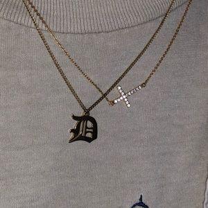Swarovski Jewelry - Swarovski Crystal across Gold Plated Necklace